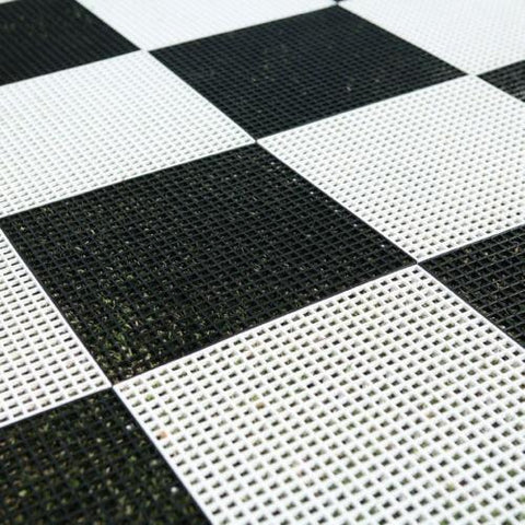 "MegaChess Hard Plastic Giant Chess Board with 15 Inch Squares 9' 10"" x 9' 10"" 