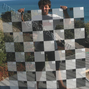 "MegaChess Hard Plastic Giant Chess Board with 7 Inch Squares 4' 8"" x 4' 8"" 