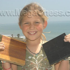 MegaChess Teak Giant Chess Board With 6 Inch Squares 4' x 4' |  | MegaChess.com