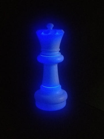 MegaChess 23 Inch LED Queen Individual Plastic Chess Piece - Blue |  | MegaChess.com