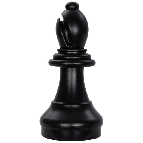 MegaChess 13 Inch Dark Plastic Bishop Giant Chess Piece |  | MegaChess.com