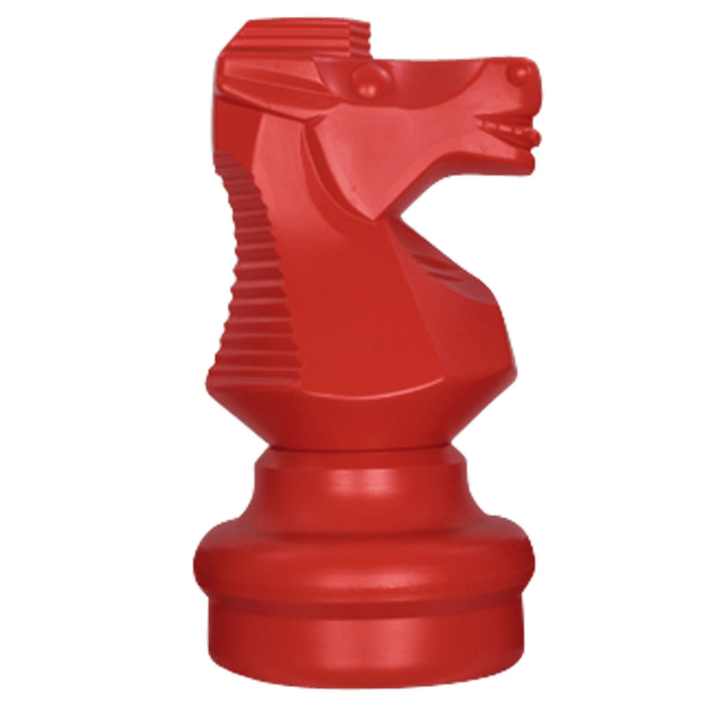 MegaChess 18 Inch Red Plastic Knight Giant Chess Piece |  | MegaChess.com