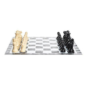 MegaChess Plastic 8 Inch Giant Chess Set | MP08 - Vinyl Mat | MegaChess.com