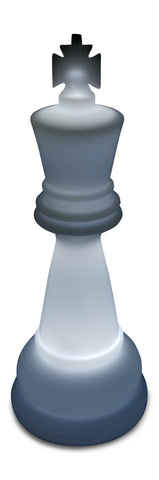 MegaChess 26 Inch Perfect King Light-Up Giant Chess Piece - White |  | MegaChess.com