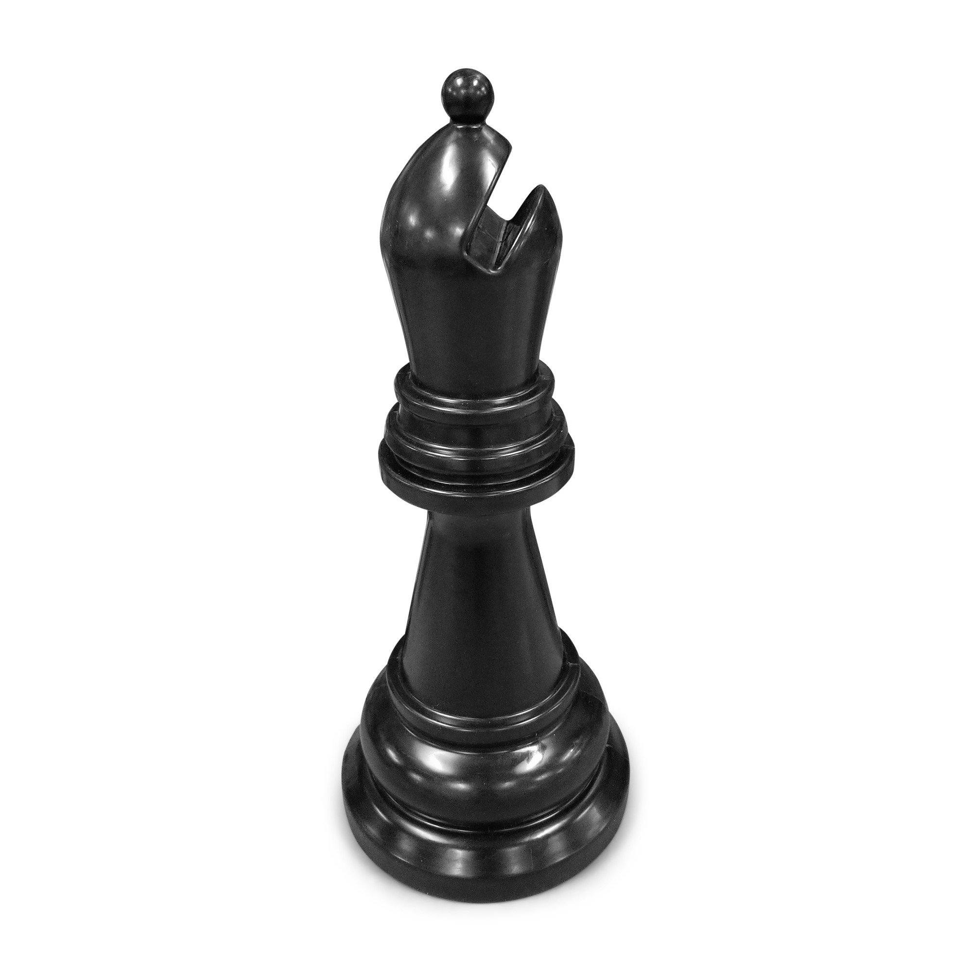 MegaChess 34 Inch Black Premium Plastic Bishop Giant Chess Piece | Default Title | MegaChess.com