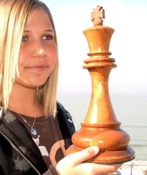 MegaChess 12 Inch Light Teak King Giant Chess Piece |  | MegaChess.com