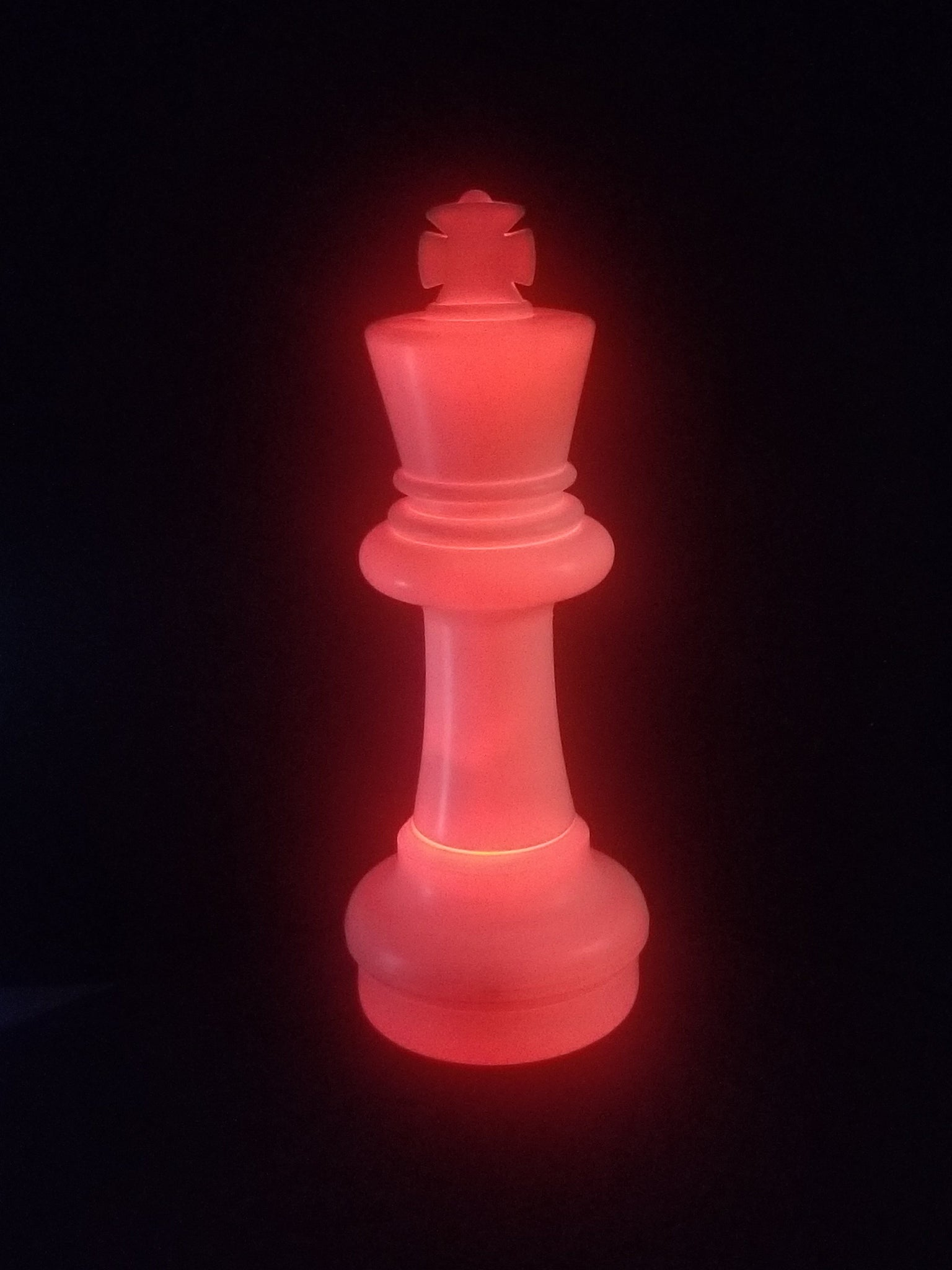 MegaChess 25 Inch LED King Individual Plastic Chess Piece - Red |  | MegaChess.com