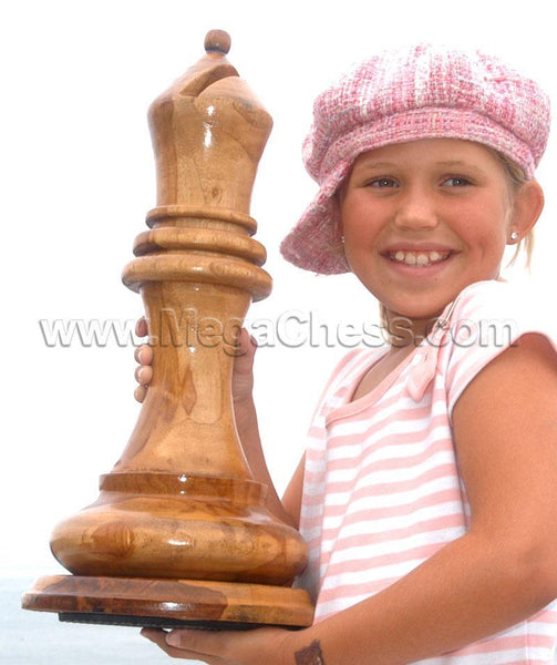 MegaChess 18 Inch Light Teak Bishop Giant Chess Piece |  | MegaChess.com