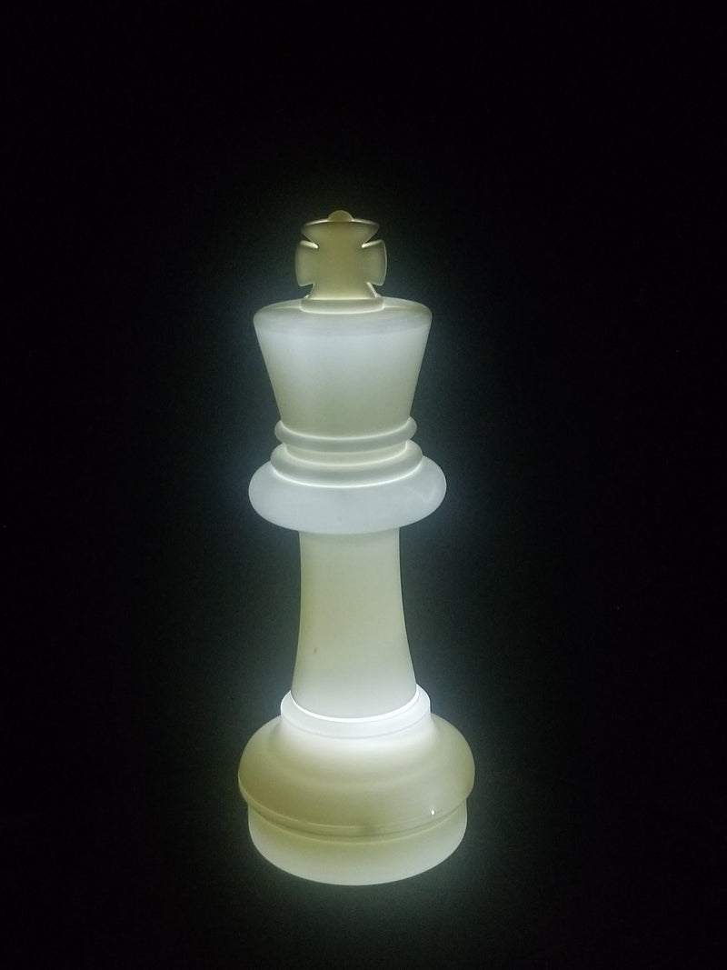 MegaChess 25 Inch LED King Individual Plastic Chess Piece - White |  | MegaChess.com