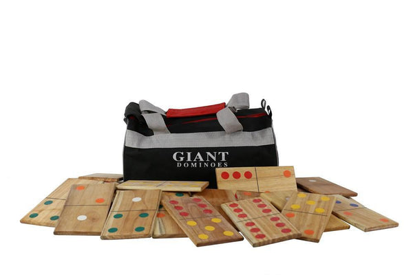 Customized Giant Dominoes - Natural Wood or Black |  | MegaChess.com