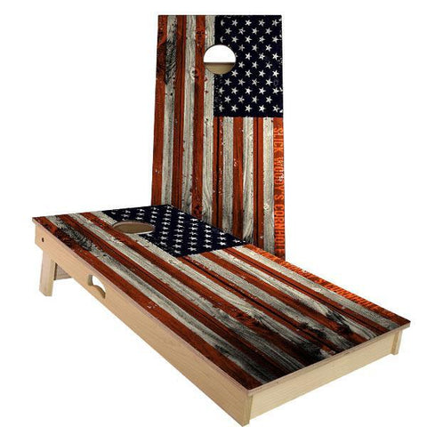 Premium American Flag Tounament Sized Cornhole Bean-Bag Toss Game - 4' x 2' |  | MegaChess.com