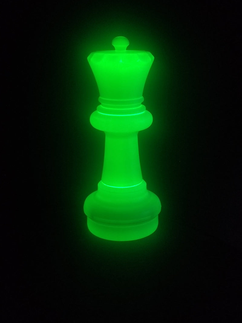 MegaChess 23 Inch LED Queen Individual Plastic Chess Piece -Green |  | MegaChess.com