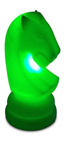 MegaChess 23 Inch Premium Plastic Knight Light-Up Giant Chess Piece - Green | Default Title | MegaChess.com
