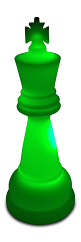 MegaChess 38 Inch Premium Plastic King Light-Up Giant Chess Piece - Green | Default Title | MegaChess.com