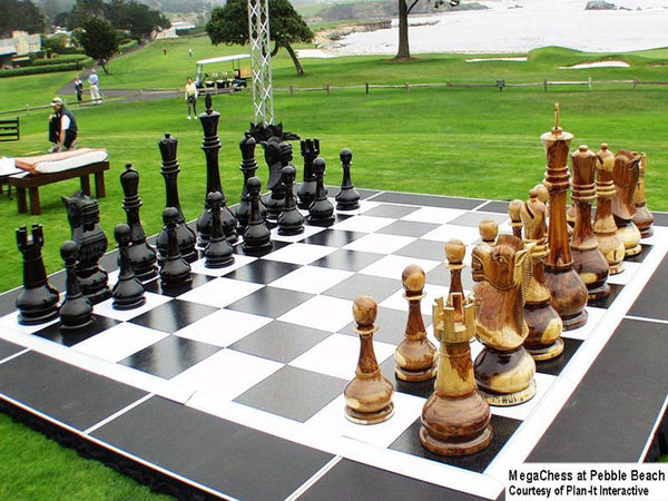 MegaChess 36 Inch Teak Giant Chess Set |  | MegaChess.com