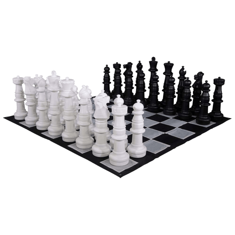 MegaChess 37 Inch Plastic Giant Chess Set with Nylon Mat | Default Title | MegaChess.com