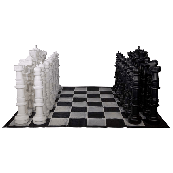 MegaChess 49 Inch Plastic Giant Chess Set with Nylon Mat |  | MegaChess.com
