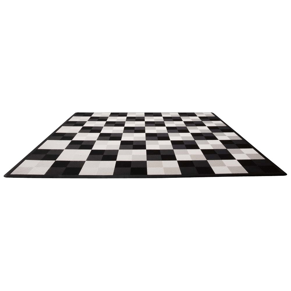 MegaChess Hard Plastic Giant Chess Board With 18 Inch Squares 12' x 12' Available ADA Compliant Safety Edge Ramps