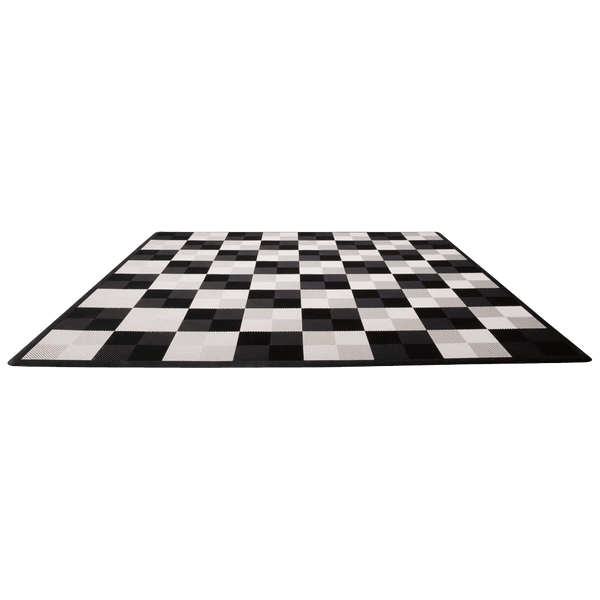 MegaChess Hard Plastic Giant Chess Board With 18 Inch Squares 12' x 12' Available ADA Compliant Safety Edge Ramps |  | MegaChess.com