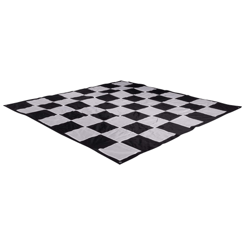 "MegaChess Quick Fold Nylon Giant Chess Mat with 8 Inch Squares - 5' 5"" x 5' 5"" 