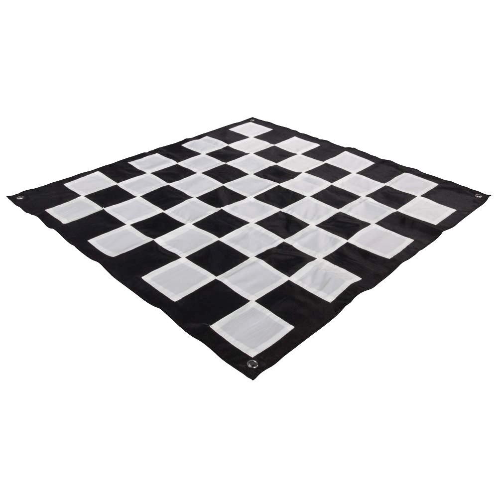 "MegaChess Quick Fold Nylon Giant Chess Mat With 4 Inch Squares - Mat is 2' 11"" x 2' 11"""
