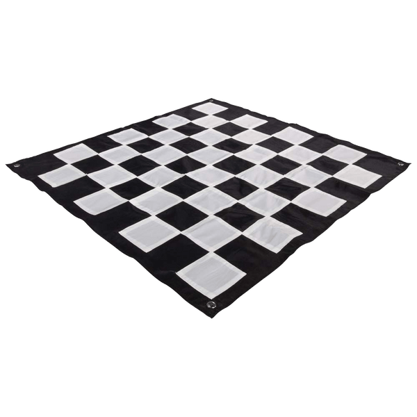 "MegaChess Quick Fold Nylon Giant Chess Mat With 6 Inch Squares - 4' 7"" x 4' 7"" 