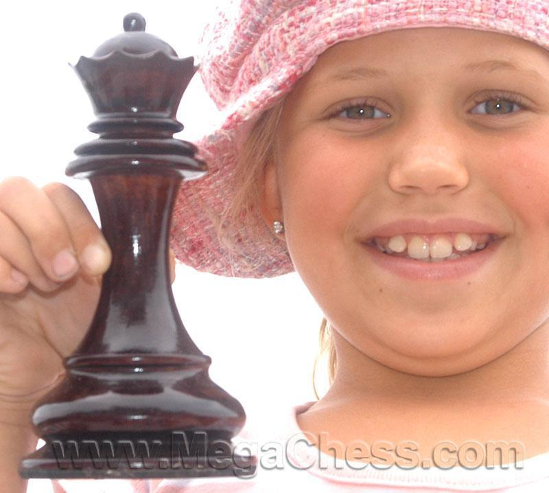 MegaChess 7 Inch Dark Teak Queen Giant Chess Piece |  | MegaChess.com