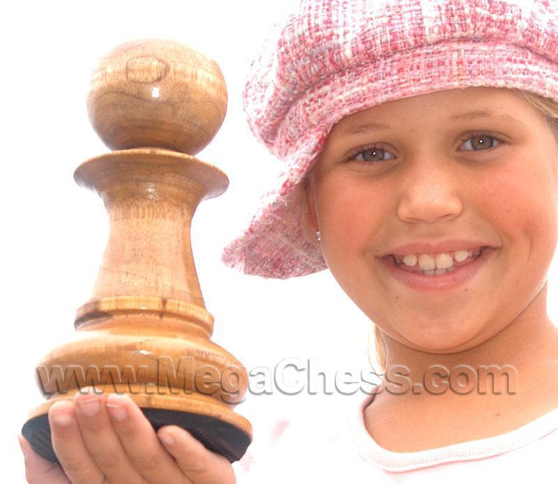 MegaChess 8 Inch Light Teak Pawn Giant Chess Piece |  | MegaChess.com