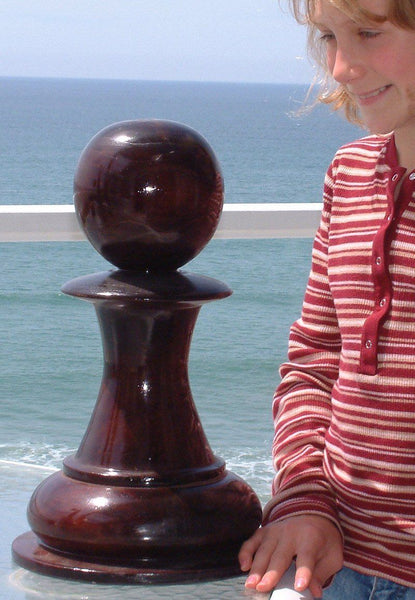 MegaChess 18 Inch Dark Teak Pawn Giant Chess Piece