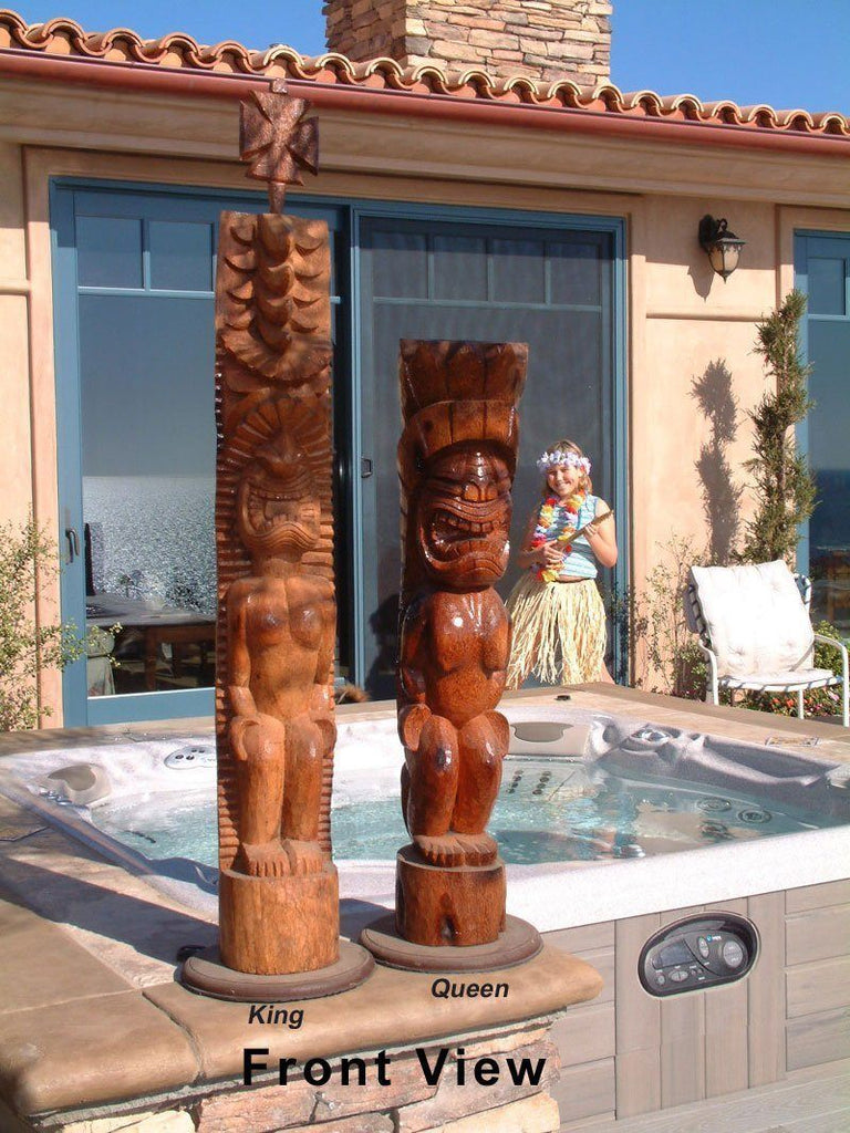 MegaChess 58 Inch Tiki Giant Chess Set |  | MegaChess.com