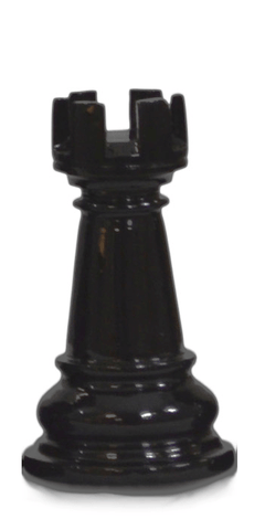 MegaChess 5 Inch Dark Teak Rook Giant Chess Piece |  | MegaChess.com