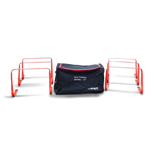 6 Red  Uber Soccer Hurdles 12 Inches tall with Nylon Bag