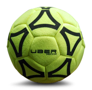 Uber Soccer Indoor Felt Soccer Ball - Neon Yellow