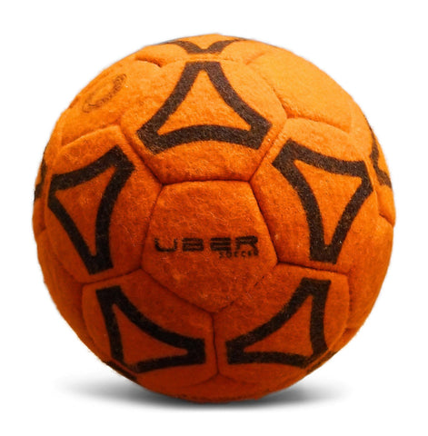 Uber Soccer Indoor Felt Soccer Ball - Orange