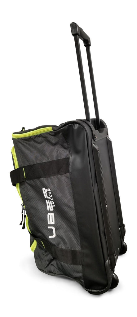 Uber Soccer Team Kit Bag with Trolley - Green and Black