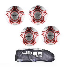 Uber Soccer Pro Training Ball 4 Pack Bundle