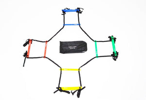 Uber Soccer Speed and Agility Ladder - Adjustable Plastic Rung - Quad - UberSoccer