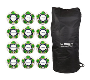 Uber Soccer Brazilian Colors Futsal Ball Bundle - 12 Pack - UberSoccer