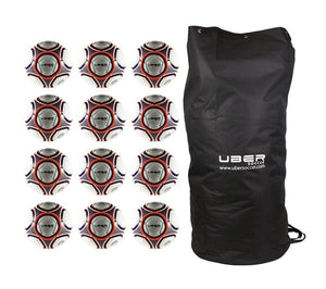 Uber Soccer Navy/Orange Futsal Ball Bundle - 12 Pack - UberSoccer
