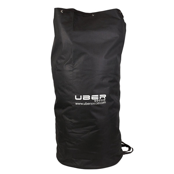 uber soccer black nylon ball bag