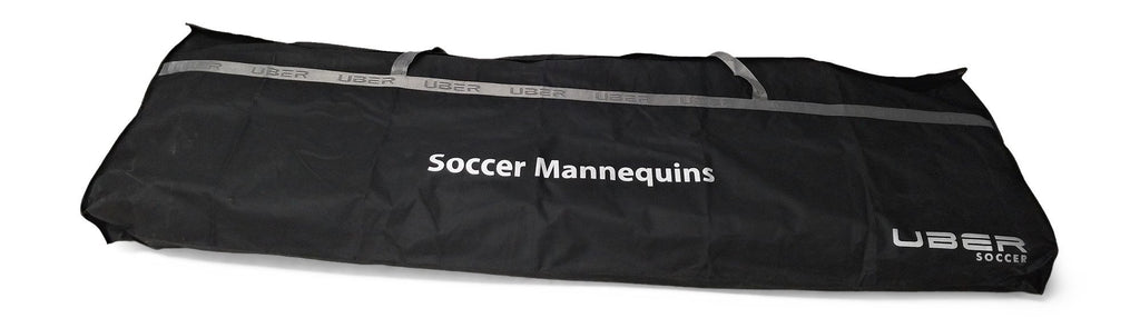 uber soccer black and silver mannequin bag