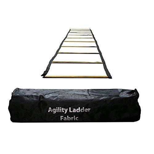 Uber Soccer Speed and Agility Training Ladder - Fabric Metal Rung - 13 Feet