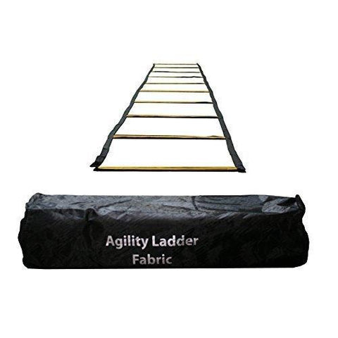 Uber Soccer Speed and Agility Training Ladder - Fabric Metal Rung - 30 Feet - UberSoccer