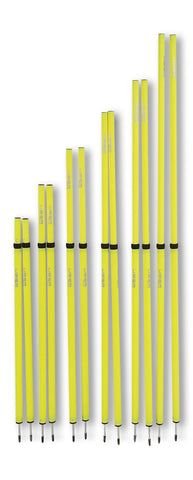Uber Soccer Adjustable Speed and Agility Training Poles - Yellow - 40 to 72 inches - UberSoccer