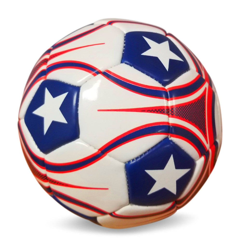 Uber Soccer USA Trainer Ball - Red, White, and Blue