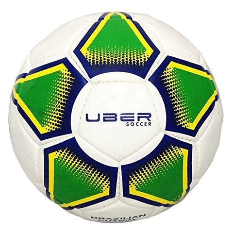 Uber Soccer Futsal Ball - Glossy Finish - Brazilian Colors