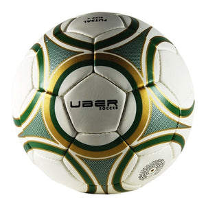 Uber Soccer Futsal Ball - Matte Finish - Green/Gold
