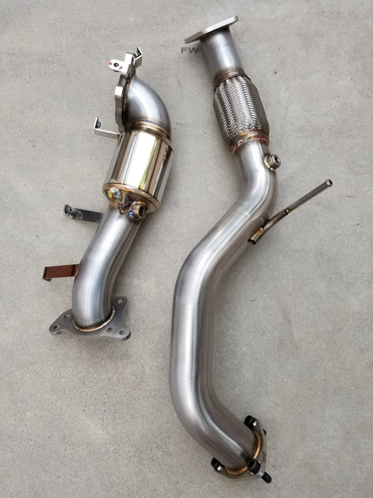 "16-20 HONDA CIVIC 1.5L TURBO RACE PERFORMANCE DOWN PIPE/ FRONT PIPE (2.5"") COMBO EXHAUST"