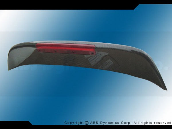 96-00 HONDA CIVIC 3DR SPOON CARBON FIBER TRUNK SPOILER WITH LED