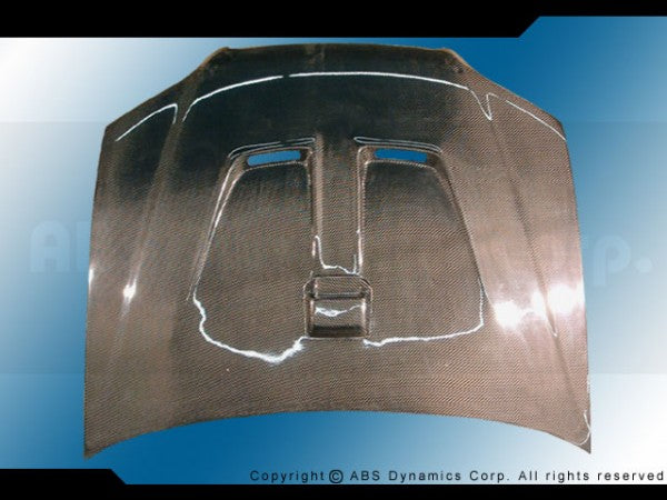 98-01 Honda Accord 2 door Hood Mugen Style (carbon)